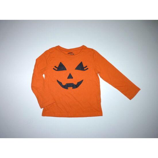 98-as vidám narancssárga Halloween tök felső