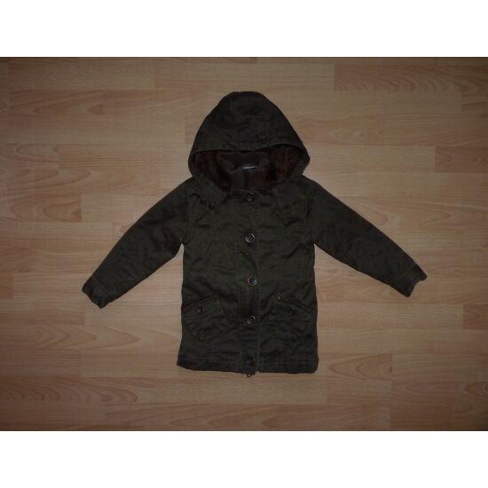 110/116-os szuper, melegbarna kabát
