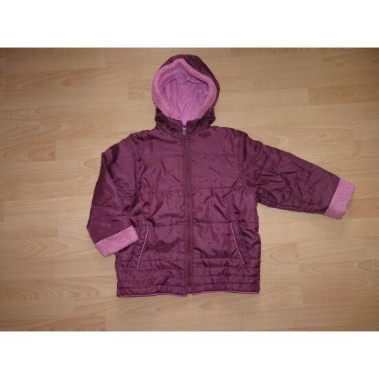 128-as bordó vízlepergető kapucnis átmeneti kabát