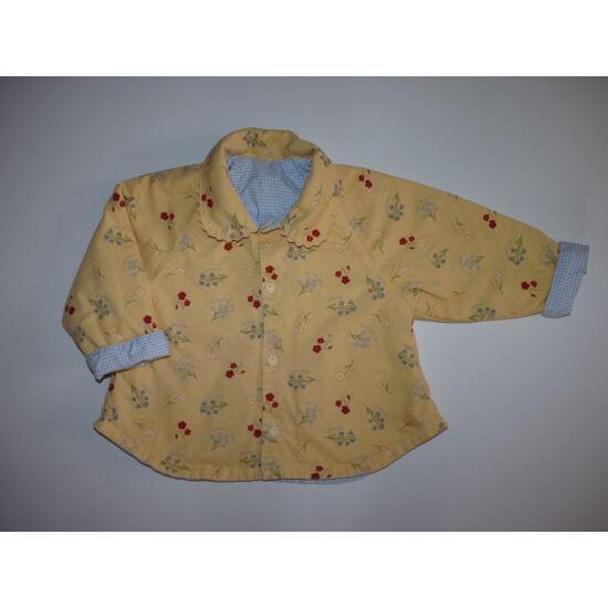 74/80-as kétoldalú csinos kislány kabát