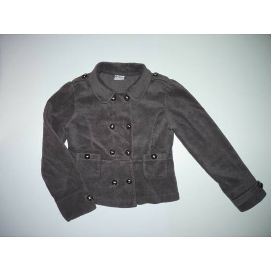152-es Next csinos, szürke polár kabát/kardigán