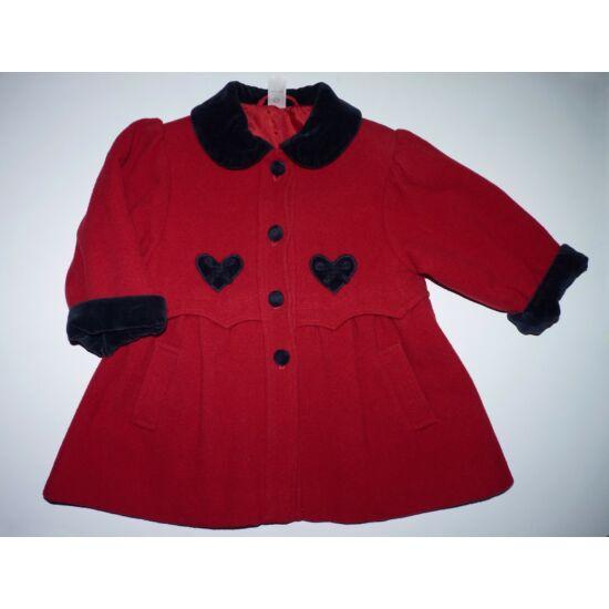 86-os C&A tündéri piros kislány szövetkabát