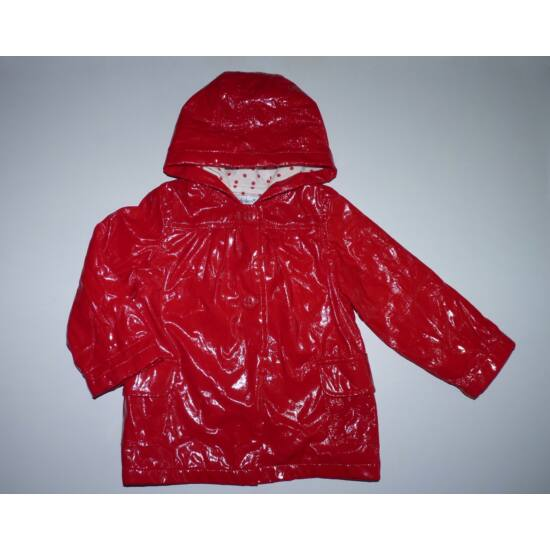 80-as gyönyörű piros lakk kislány kabát
