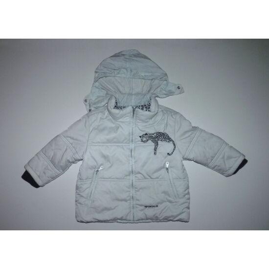 98-as melegebb átmeneti kislány kabát lepoárddal - játszósabb