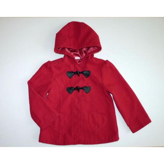 110/116-os csinos, piros kapucnis polár kabát
