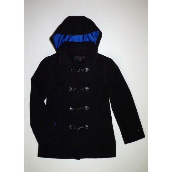 146-os YD fekete csinos kapucnis szövetkabát