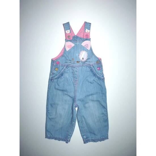 68/74-es Next tündéri állítható kantáros, bélelt kislány nadrág