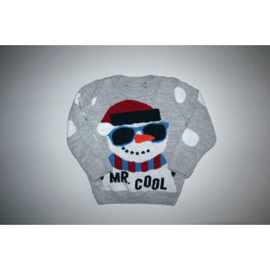92/98-as Mr. Cool vagány hóemberes pulóver