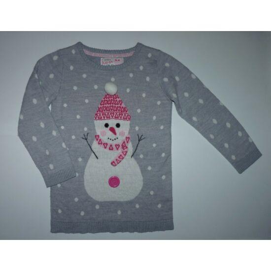 116-os hóember mintás kislány pulóver