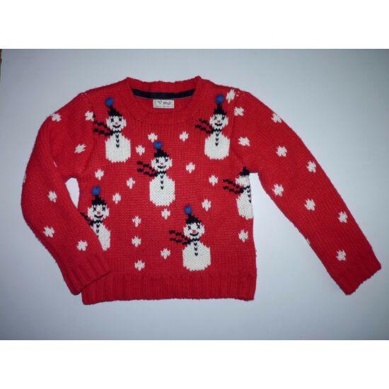 116-os Next hóember mintás vastag kötött pulóver