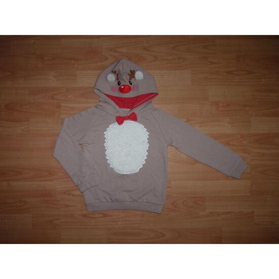 122-es YD különleges karácsonyi rénszarvas mintás pulóver