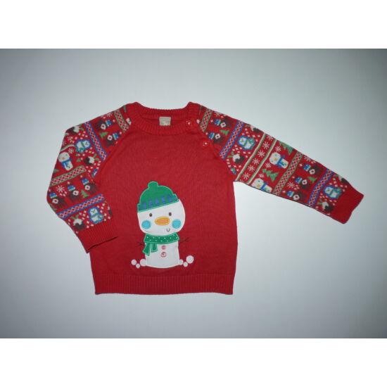 74/80-as TU hóemberes karácsonyi kötött pulóver