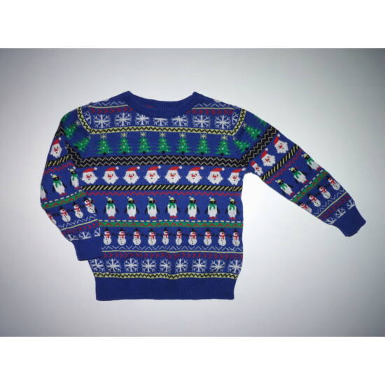98-as M&S karácsonyi Mikulás mintás pulóver