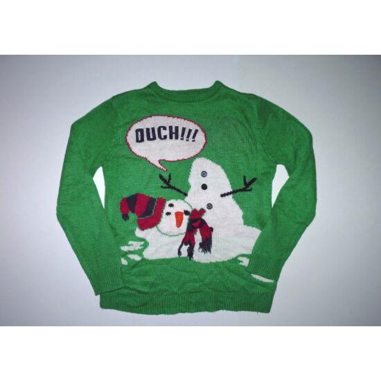 146-os mókás hóemberes pulóver