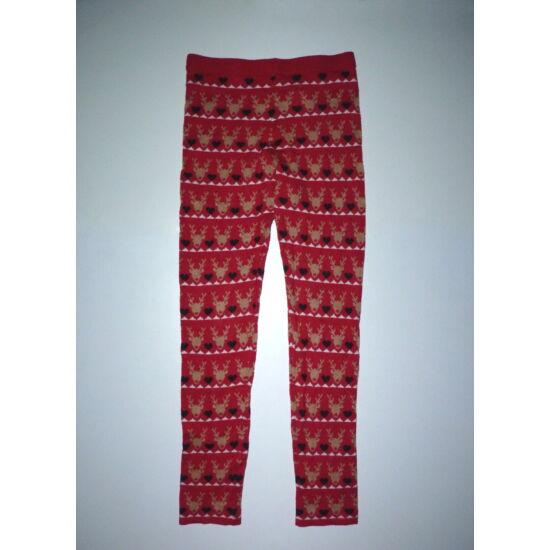 152-es Rudolf mintás karácsonyi kötött leggings