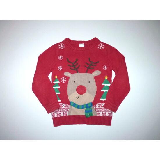 110-es karácsonyi rénszarvas mintás pulóver villogó orral