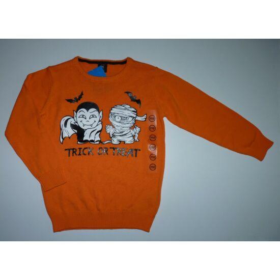 110-es narancssárga Halloween felső - új