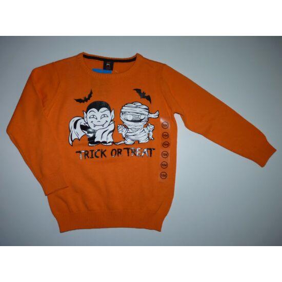 104-es narancssárga Halloween felső - új