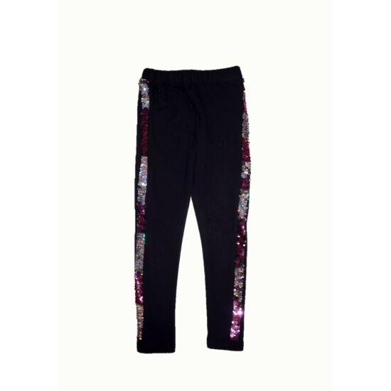122/128-as megfordítható flitteres leggings