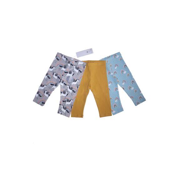 80/86-os F&F vidám 3/4-es leggings csomag - új