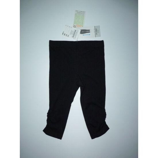 104-es fekete 3/4-es pamut leggings - új