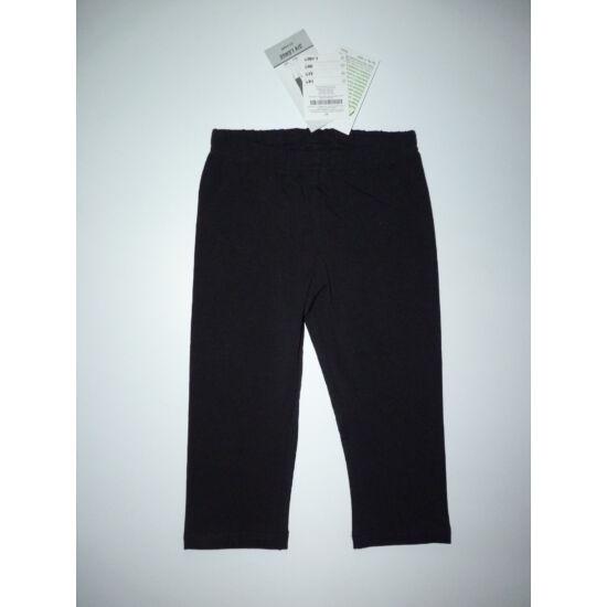 116-os fekete 3/4-es egyszínű pamut leggings - új