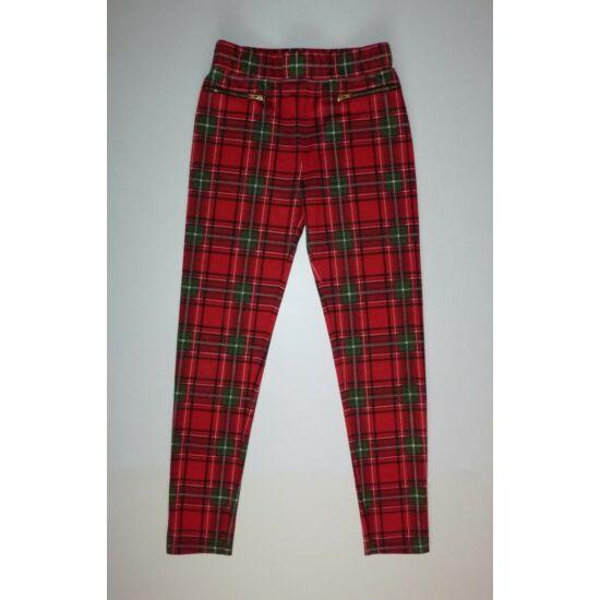 128-as TU csinos karácsonyi leggings, szűk nadrág