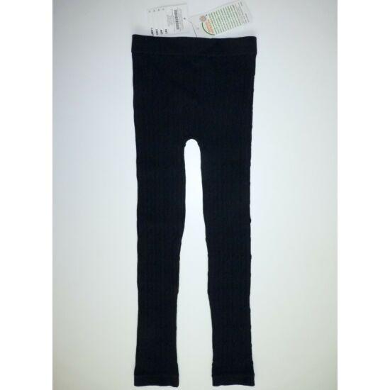 116/122-es fekete kötött leggings - új