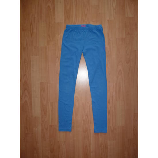 146/152-es Hema kék pamut leggings - játszósabb