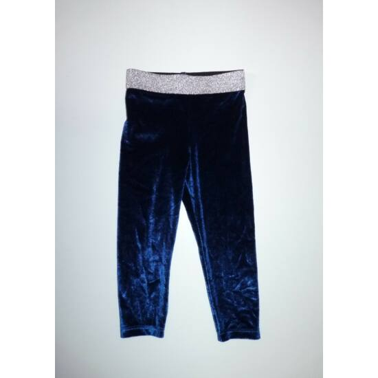 80/86-os gyönyörű kék-ezüst alkalmi leggings - újszerű