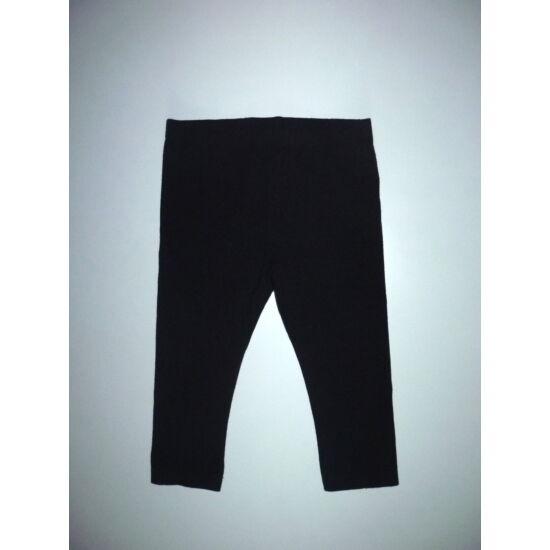 86-os fekete 3/4-es kislány pamut leggings
