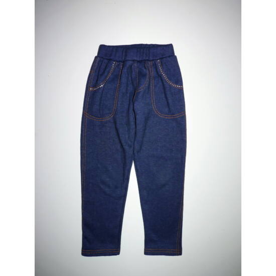 116/122-es vastag strasszos kislány leggings
