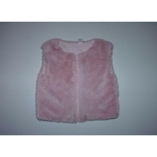 80/86-os TU rózsaszín szőrme mellény