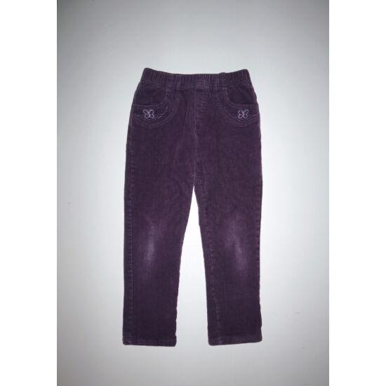 116/122-es lila bélelt kislány nadrág