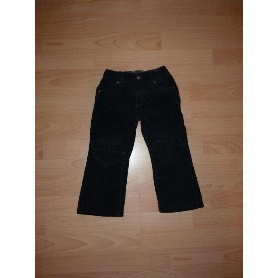 98-as H&M csinos, szív mintás, fekete mikrokord nadrág