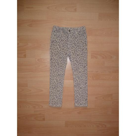 122-es Denim gepárd mintás csinos nadrág