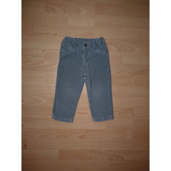 92-es C&A bélelt, szürke állítható derekú nadrág