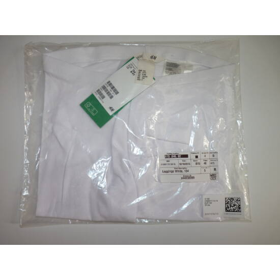 Új, 134-es H&M 3/4-es fehér legging