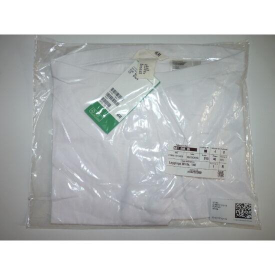 140-es H&M 3/4-es fehér legging - új