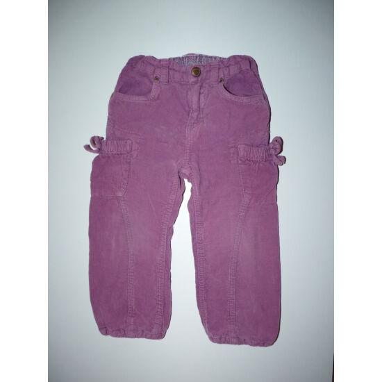 92-es H&M bélelt kislány nadrág