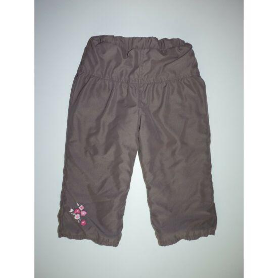 92-es C&A bélelt virágos kislány nadrág