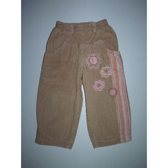 98-as csinos bélelt kislány nadrág