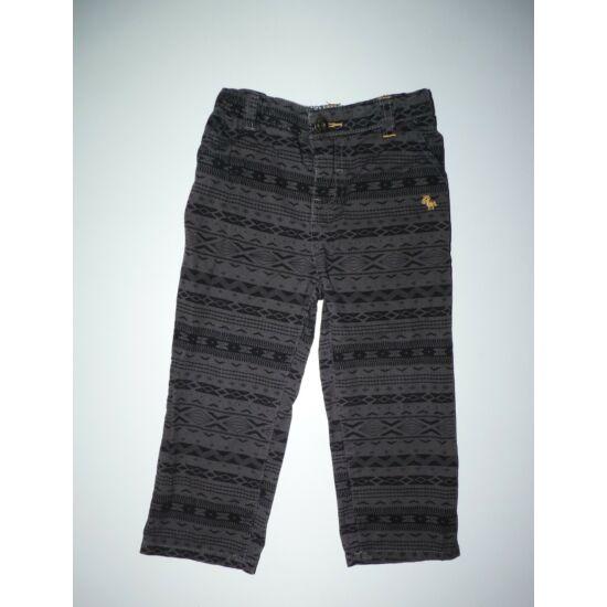 80/86-os vagány mintás szürke fiú nadrág