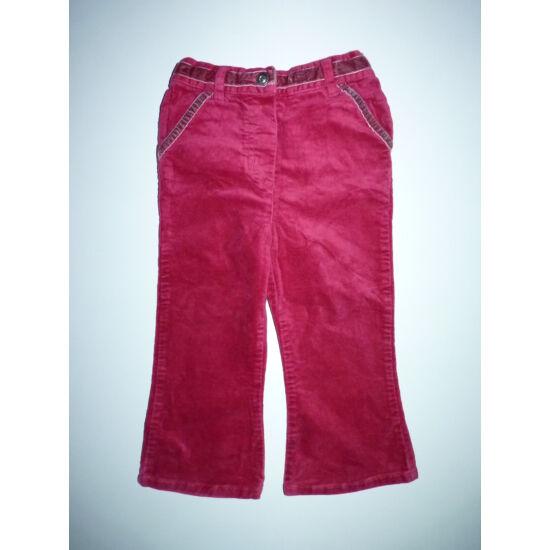 92-es Next gyönyörű kislány bársony nadrág