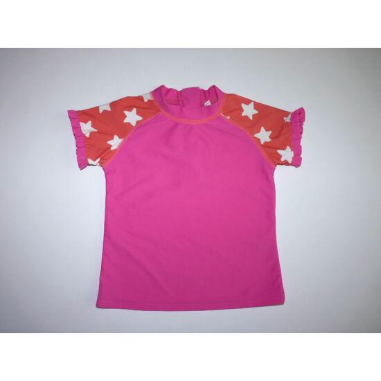80/86-os csillagos lány úszó póló, strand felső