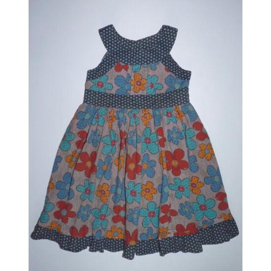 98/104-es fodros-virágos könnyű nyári ruha