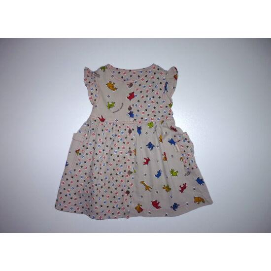 80/86-os tündéri állat mintás pamut nyári ruha