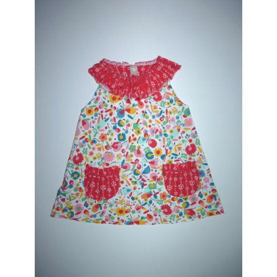 92/98-as TU különleges színes mintás nyári ruha