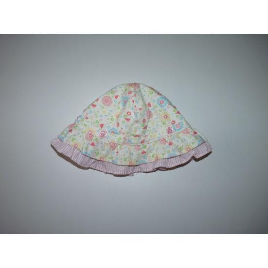 Virágos-fodros tündéri kislány kalap