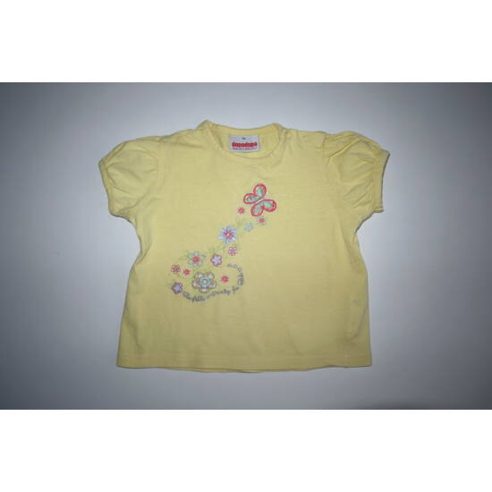 86-os virágos-lepkés kislány póló
